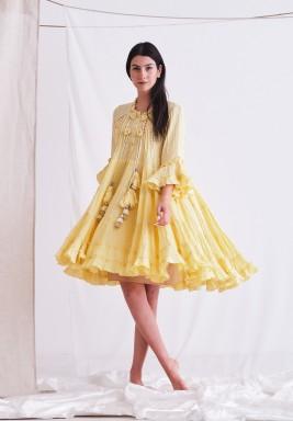 Yellow Dress with Tassel