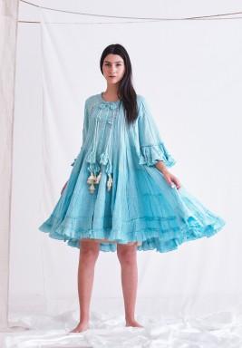 Sea Form Dress with Tassel