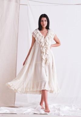 Gardenia Baby Doll Dress with Ruffles & CPT Dye