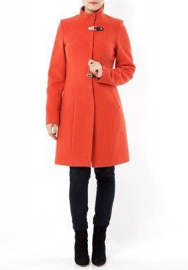 معطف صوف برتقالي