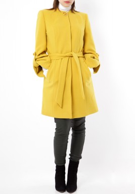 معطف صوف - أصفر