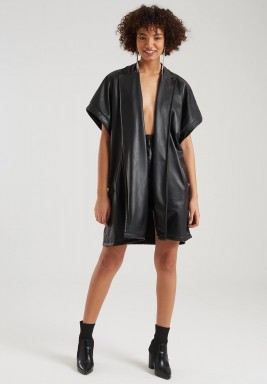 ELLA LEATHER CAPE