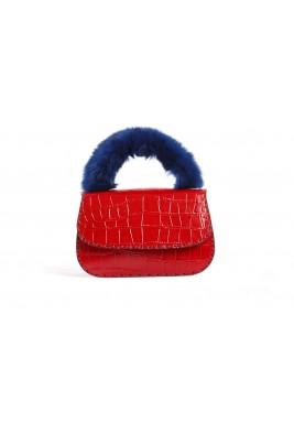 دانا حقيبة مدروزة حمراء