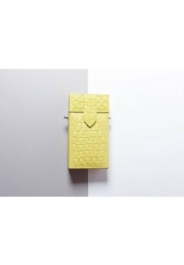 حقيبة طراز صندوق صغير أصفر