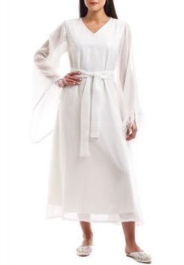 فستان ربيعة الأبيض