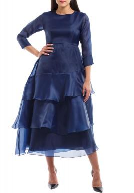 فستان باتركپ الكحلي