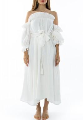 فستان أبيض ملائكي