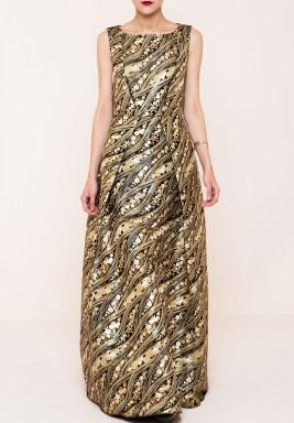 فستان سهرة ذهبي