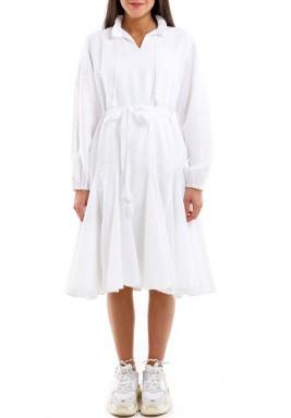فستان كشكش أبيض
