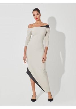 فستان ميدي غير متماثل
