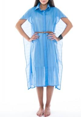 فستان تصميم قميص بكايب رداء الكتف