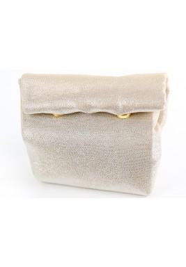 حقيبة ملتفة صغيرة - ذهبية وفضية