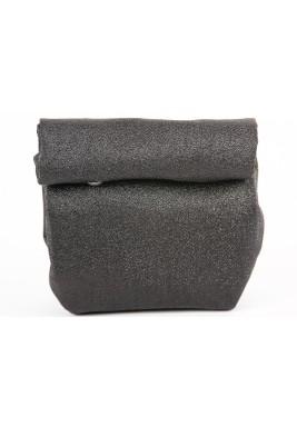 حقيبة ملتفة صغيرة - سوداء وفضية