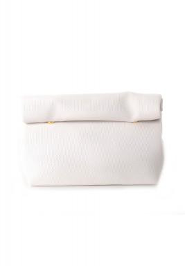 حقيبة سادة كبيرة - أبيض