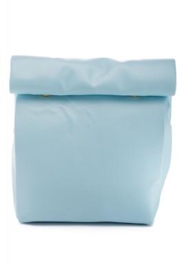 محفظة متوسطة بنمط لف لون ازرق سماوي