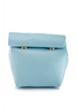 محفظة بنمط جراب ملتف صغيرة أزرق سماوي