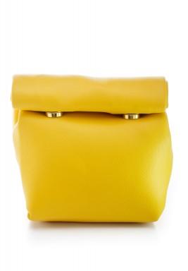 محفظة بنمط جراب ملتف صغيرة أصفر