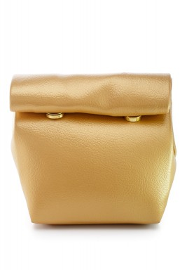 محفظة بنمط جراب ملتف صغيرة ذهبي