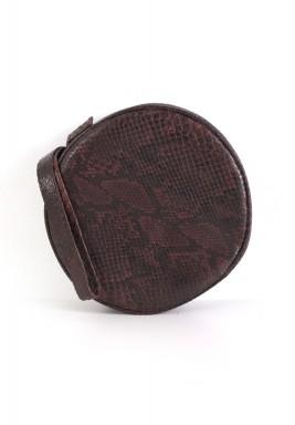 حقيبة دائرية - بنية