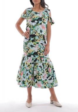 فستان مورد بدون أكمام