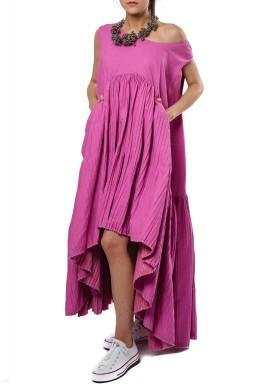 فستان بنمط خفاش زهري