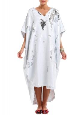 فستان بريق الأبيض