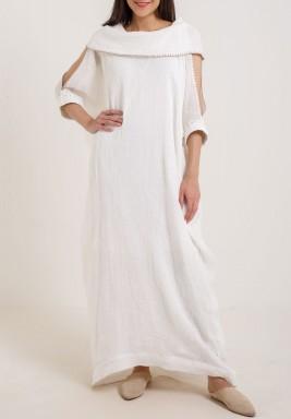 فستان الياقة الكبيرة