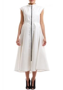 فستان جاردينيا الأبيض بسحاب