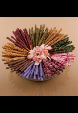 طبق تقديم خرساني رمادي