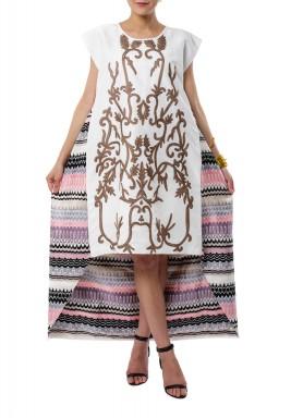 فستان الأشكال الهندسية المنفوش