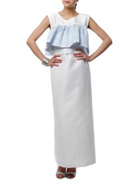 فستان مع كشكش