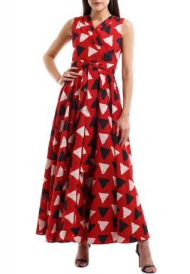بليتس أند مي فستان المثلثات بطيات