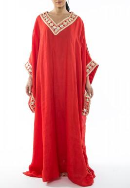 فستان طويل - أحمر