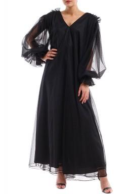 فستان تول طويل