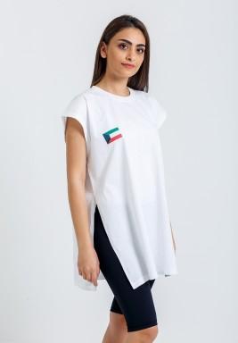 تي شيرت الكويت الأبيض