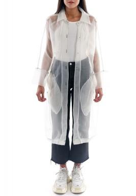 معطف أبيض مش متوسط الطول