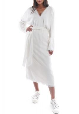 فستان ميلوس أبيض مع أبيض