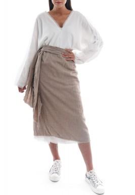 فستان ميلوس بيج مع أبيض