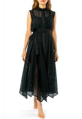 فستان أكسفورد الأسود الدانتيل