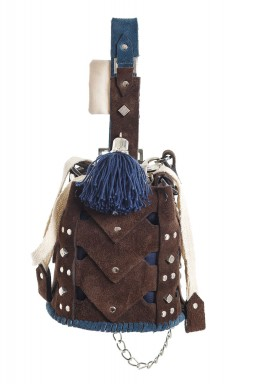 Chocolate Mini Vertebrae bucket bag