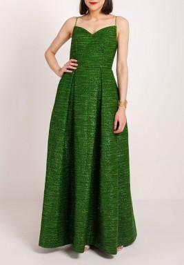 سباجيتي فستان بحمالات رفيعة أخضر