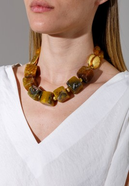 Bronze Pieces Gold Plated Necklace