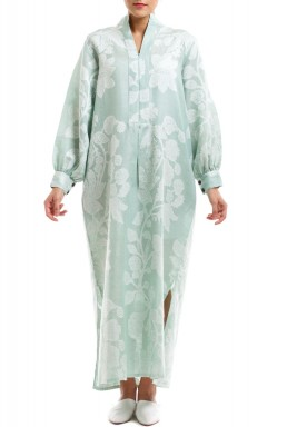 فستان دشداشة أخضر نعناعي
