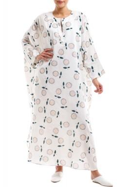 فستان بوكس ابيض