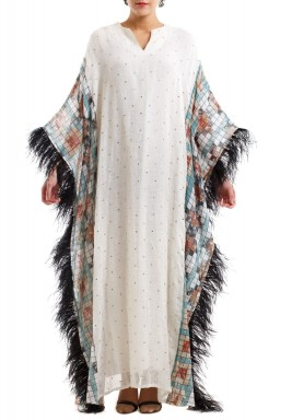 Feather kaftan