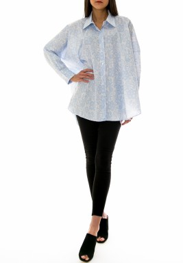 قميص دانتيل - أزرق فاتح (بيبي بلو)