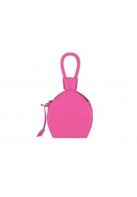 حقيبة آتينا وردية جلد نمط قارورة