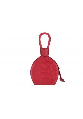 حقيبة آتينا حمراء جلد نمط قارورة