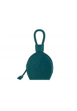 حقيبة أتينا الخضراء الجلد نمط قارورة