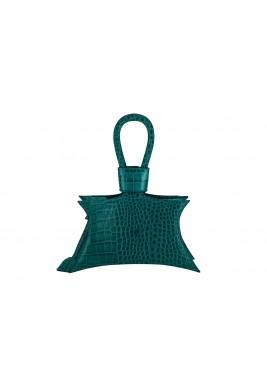 حقيبة سيدا خضراء جلد نمط نجمة